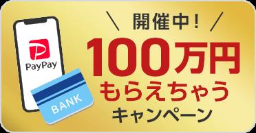 開催中!100万円もらえちゃうキャンペーン