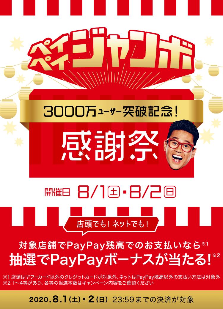 ペイペイジャンボ 3000万ユーザー突破記念!感謝祭
