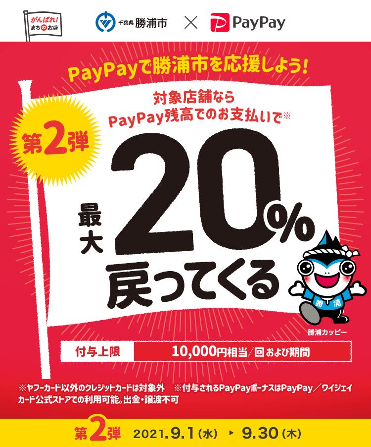 PayPayで勝浦市を応援しよう!対象店舗ならPayPay残高でのお支払いで最大20%戻ってくる