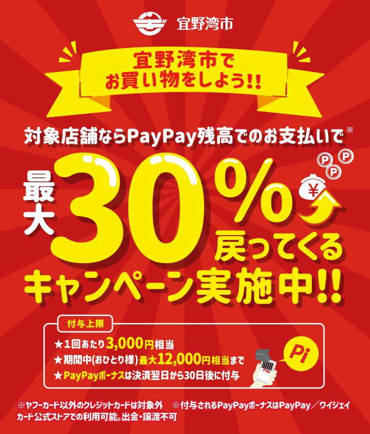 宜野湾市でお買い物をしよう!!対象店舗ならPayPay残高でのお支払いで最大30%戻ってくる