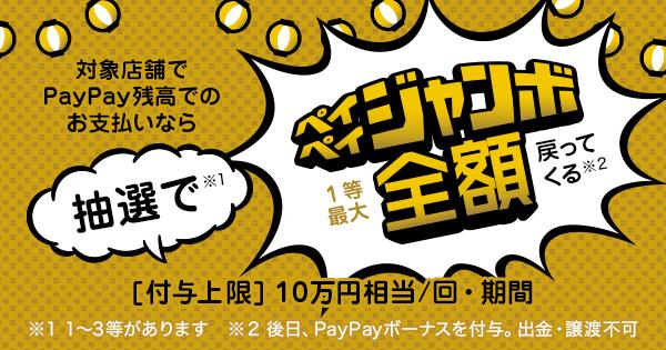 PayPayジャンボ1等最大全額戻ってくる