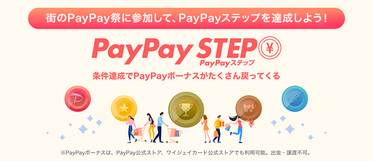 PayPay STEP 条件達成でPayPayボーナスがたくさん戻ってくる
