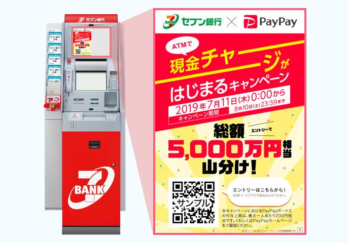 paypay チャージ セブン 銀行