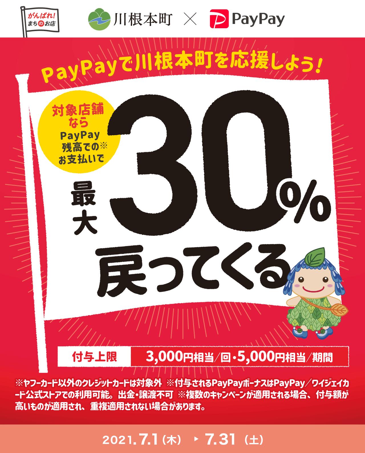 PayPayで川根本町を応援しよう!対象店舗ならPayPay残高でのお支払いで最大30%戻ってくる