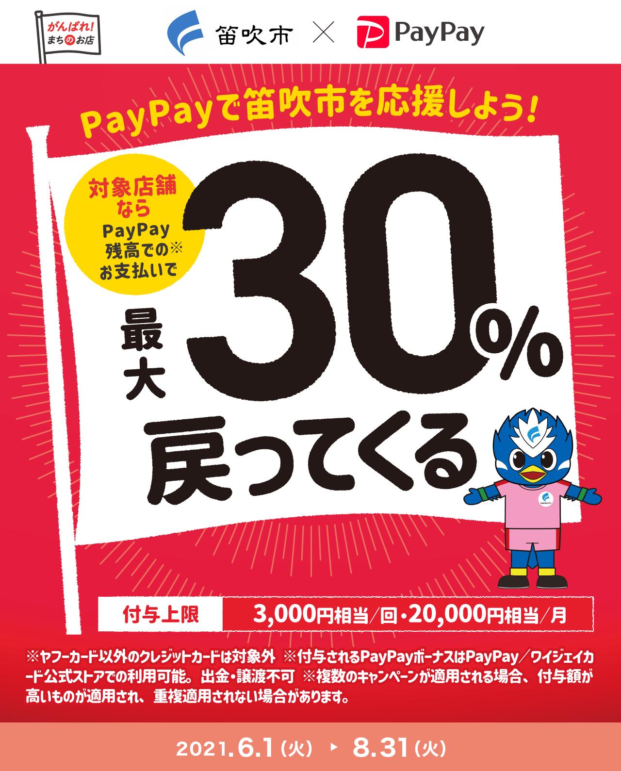 PayPayで笛吹市を応援しよう! 対象店舗ならPayPay残高でのお支払いで最大30%戻ってくる