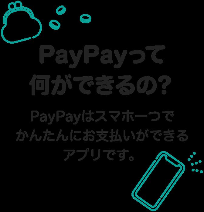 PayPayって何ができるの? PayPayはスマホ一つでお店でかんたんにお支払いができるアプリです。