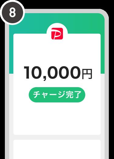 銀行ATM_チャージ完了