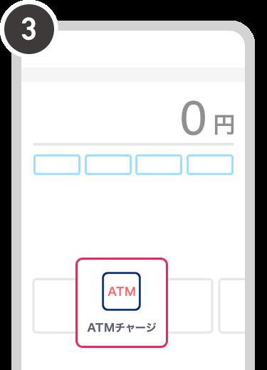 銀行ATM_チャージ画面