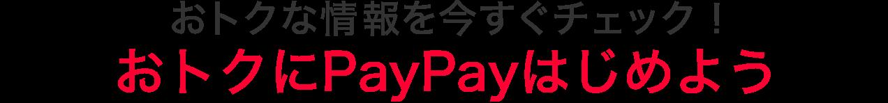 2月12日に向けて、まずはおトクな情報をチェック!おトクにPayPayはじめよう