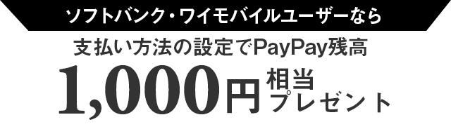 SoftBank Y!mobile スマホユーザーなら 支払い方法の設定でPayPay残高 500円相当プレゼント