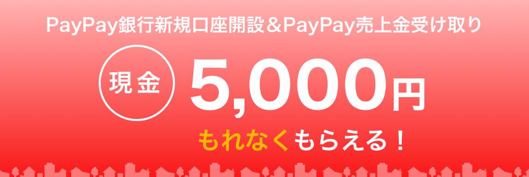 PayPay銀行新規口座開設&PayPay売上金受け取り 現金5,000円もれなくもらえる!