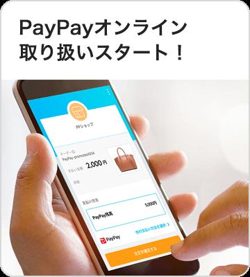PayPayオンライン取り扱いスタート