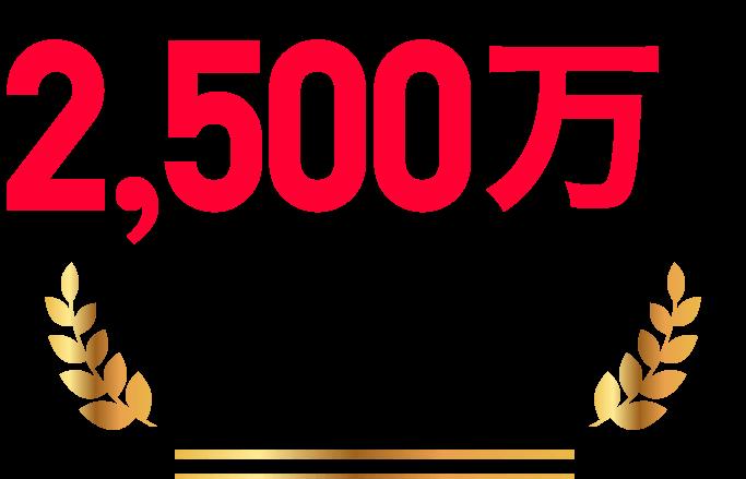 ユーザー数2,500万人突破