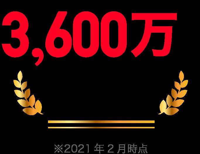 ユーザー数3,600万人突破